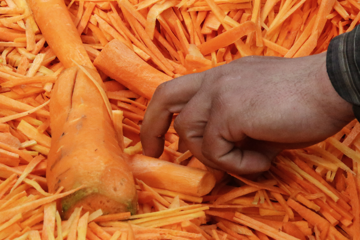 Carrots are essential to oshi palav