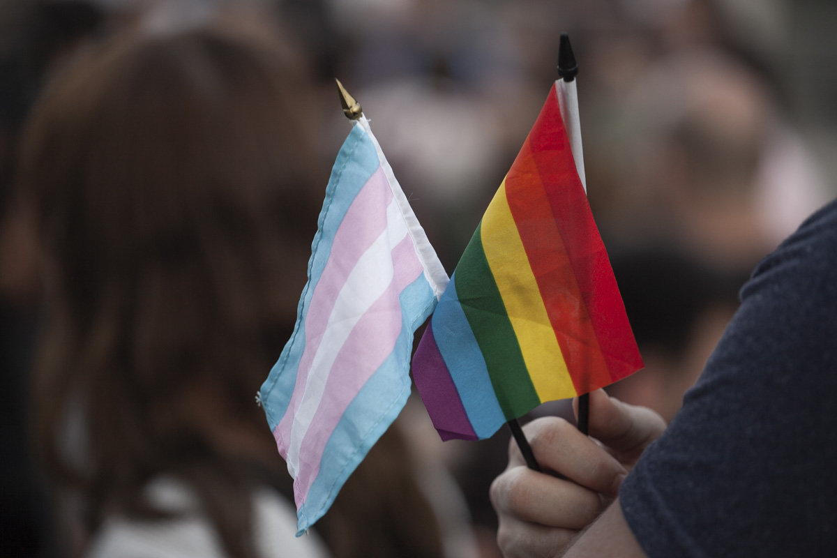 Gay rights groups in Georgia called off a planned rally on May 17 after threats of violence, but individual activists still came out to rally.