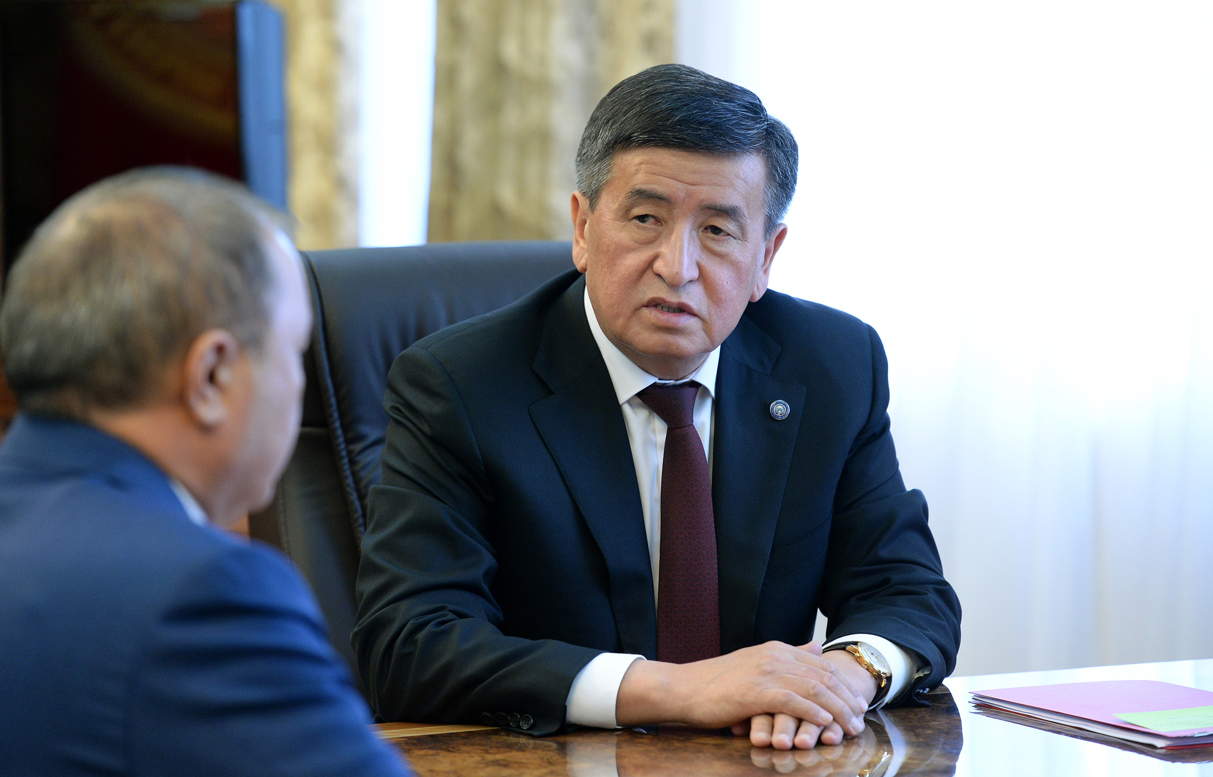 Sooronbai Jeenbekov was elected president of Kyrgyzstan in October 2017.