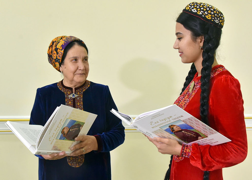 "Turkmen President Berdymukhamedov has published yet another book—his second in four months—titled ""Worshipping Mother – Worshipping a Sacred Person."" (Photo: turkmenistan.gov.tm)"
