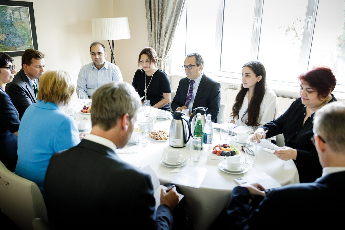 Merkel and Azerbaijani civil society