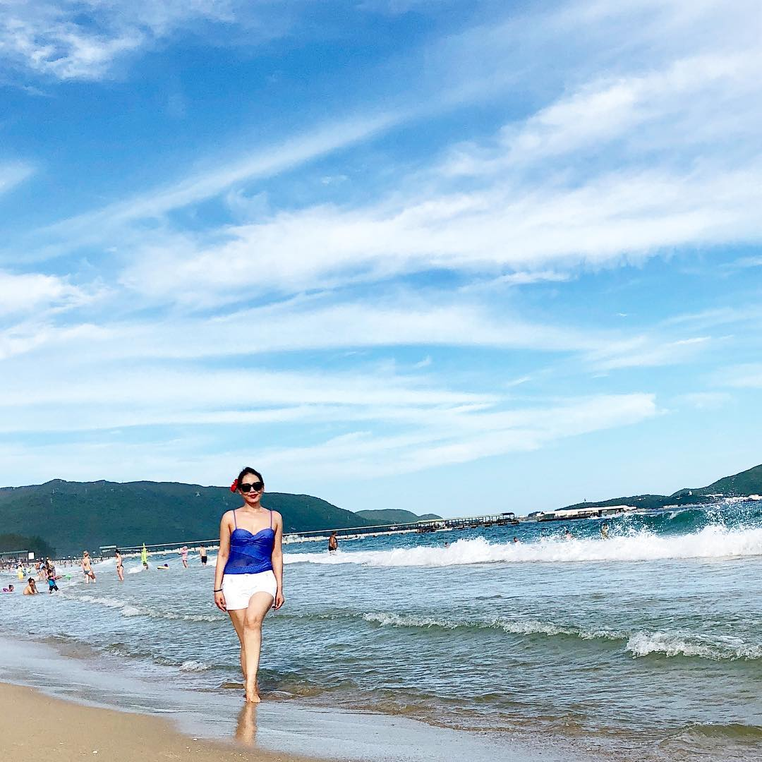 Lunara Mamytova, a former deputy Labor and Social Development Minister, minding her own business at a holiday resort in Sanya, China. (Photo:  Lunara Mamytova Instagram account)