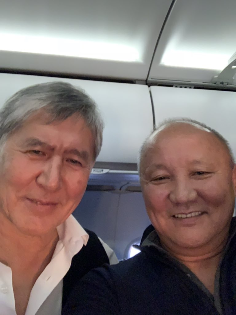 Thick as thieves: Atambayev and Tyuleyev. (Photo:  Nariman Tyuleyev Twitter account)