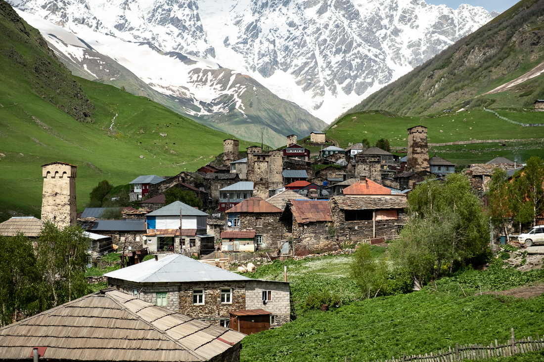 The upper part of Ushguli