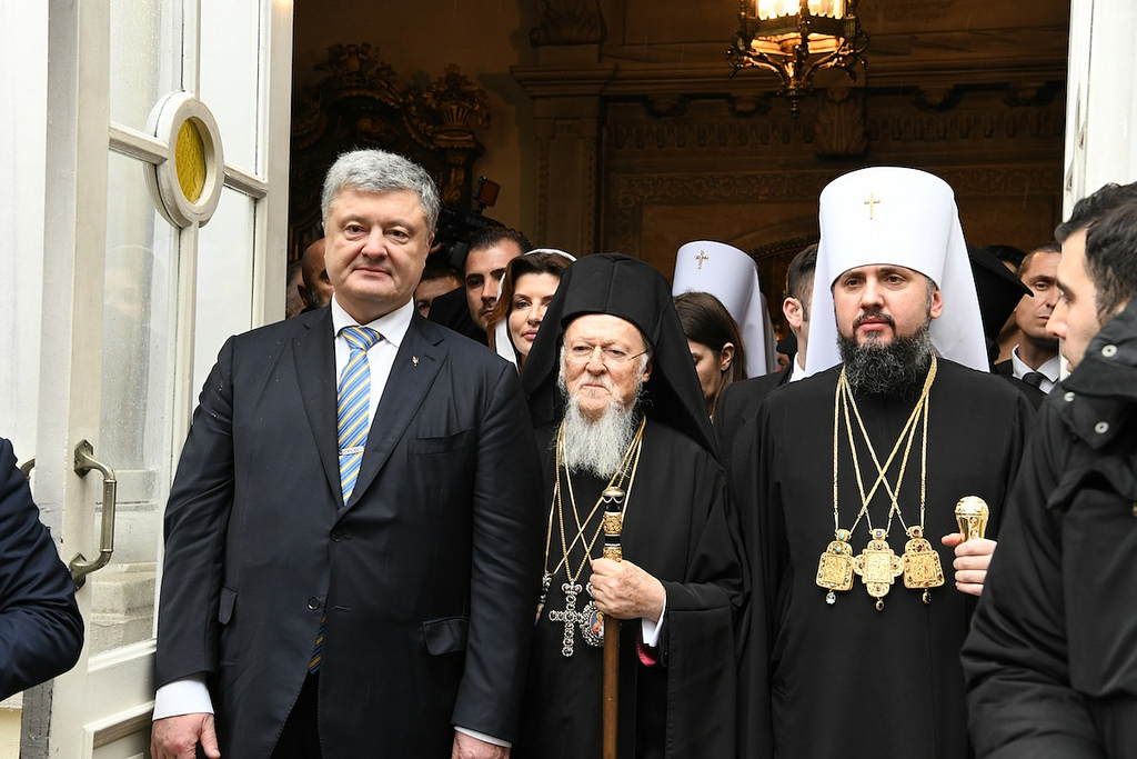 Poroshenko and Bartholomew