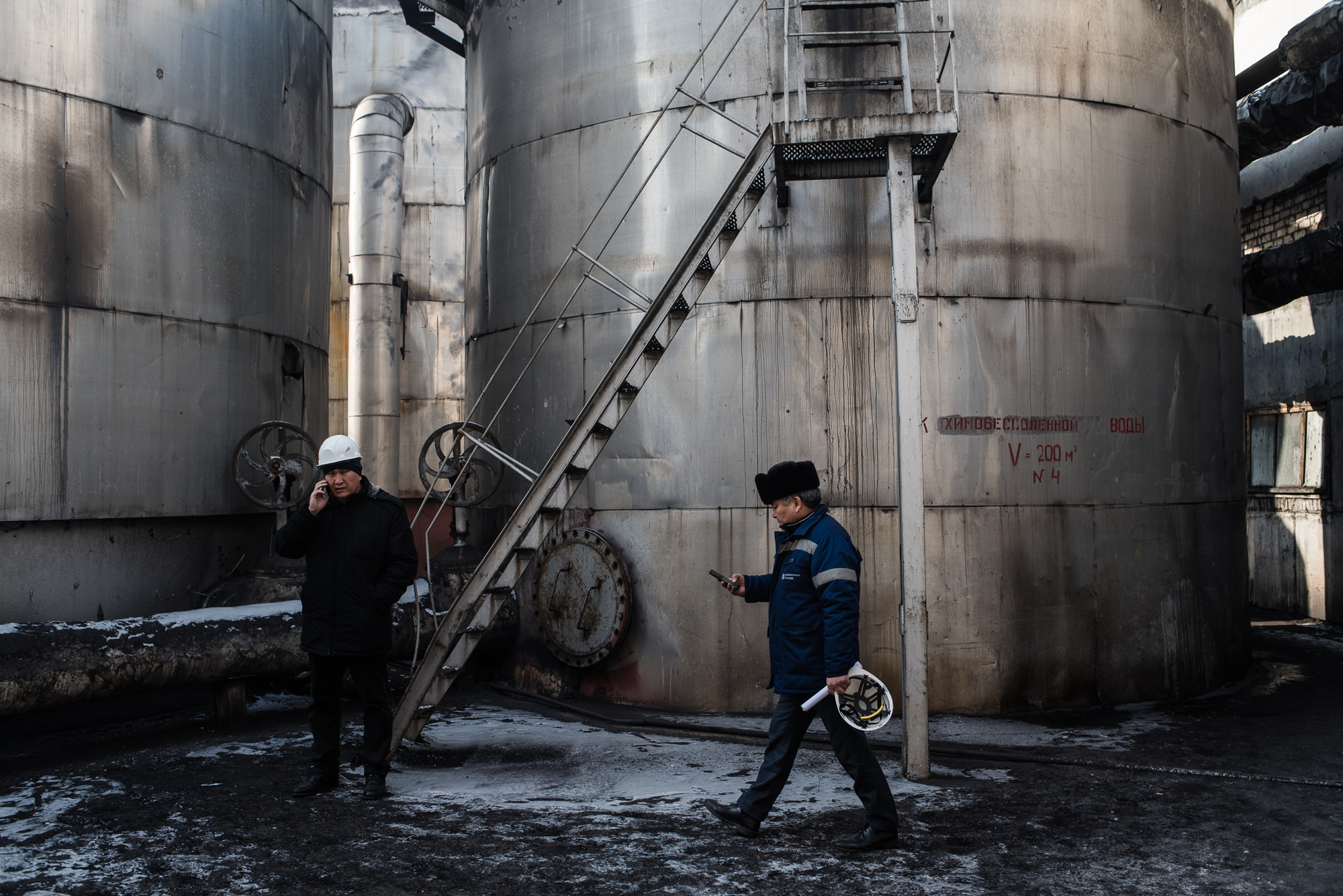 Technicians in Bishkek's power plant (Photo by Danil Usmanov)