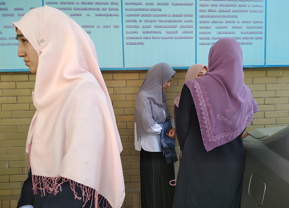 Islamic Academy students outside the courtroom