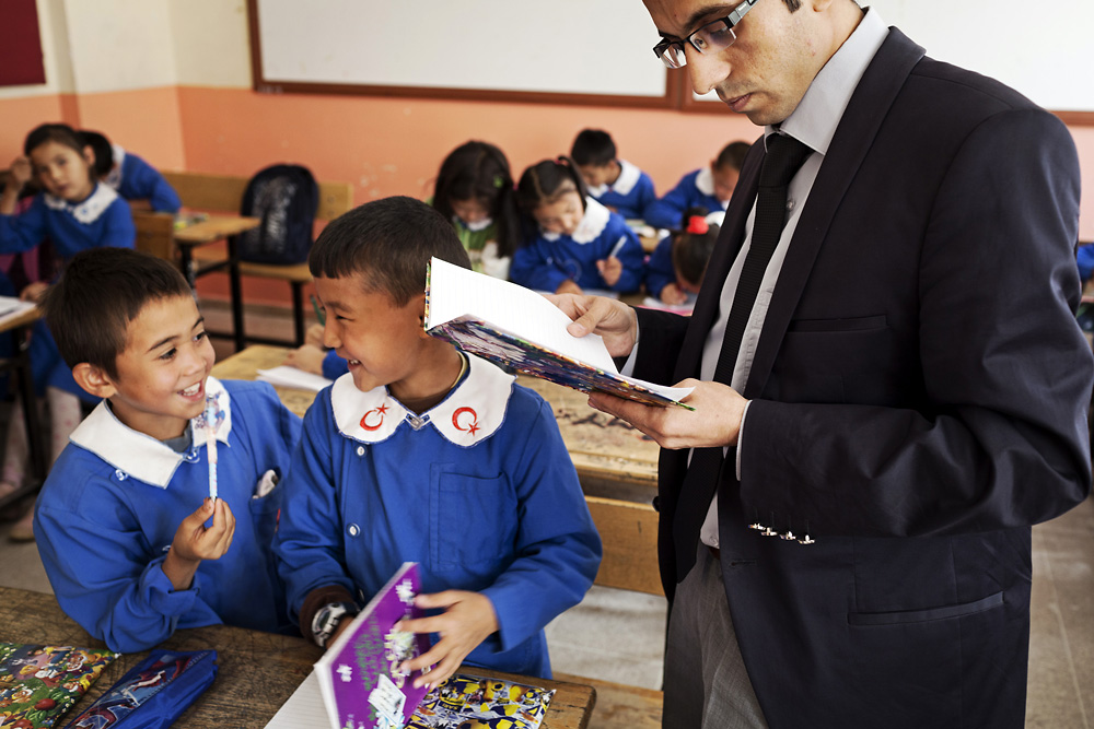Ulupamir students study with Turkish teachers.