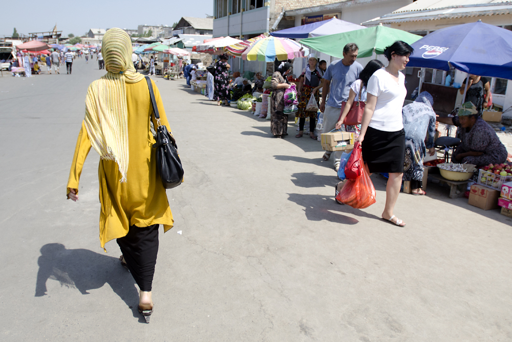 Although again the center of shopping in Osh, the famous bazaar seemed only half the size of what it once was.
