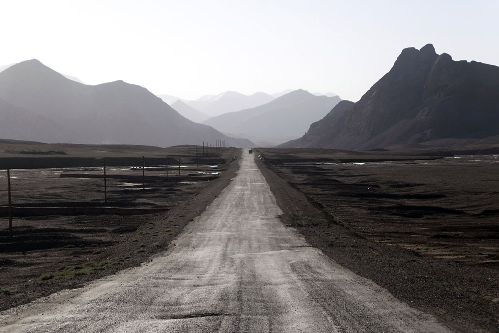 The journey crosses three major mountain passes and, after entering Tajikistan, seldom drops below 3,800 meters.