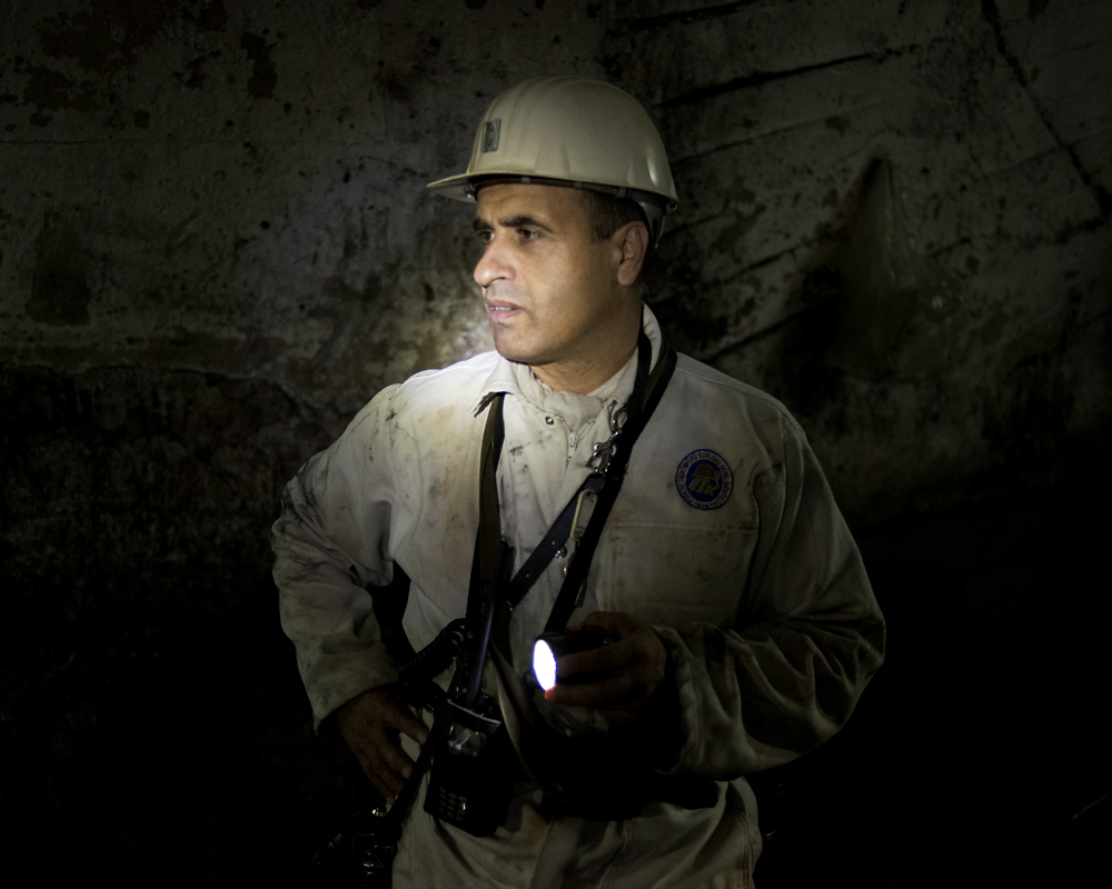 Manager Necdet Kiber Cebi, who has worked in coal for 28 years, is a fourth generation miner.