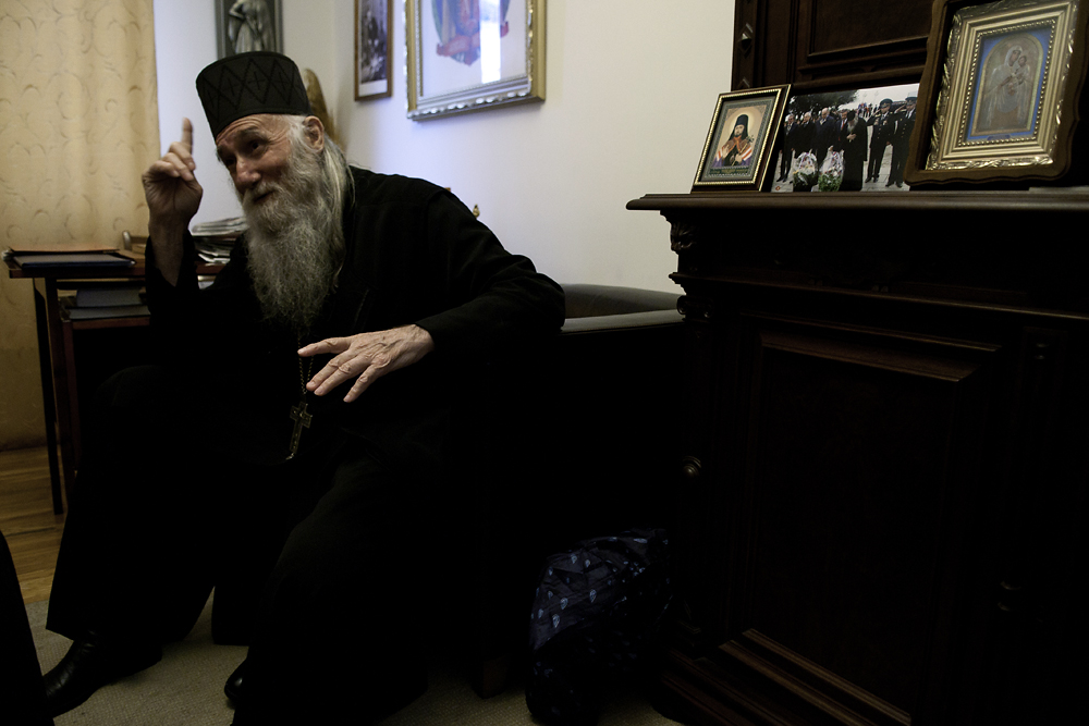 "Father Vissarion Apliaa has declared himself the  ""interim bishop of the Abkhaz Orthodox Church."""