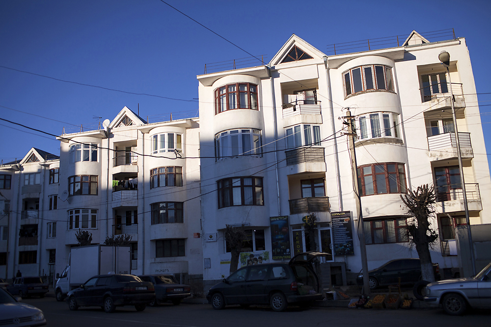 A quarter century after the quake, Gyumri includes new buildings and residential districts.