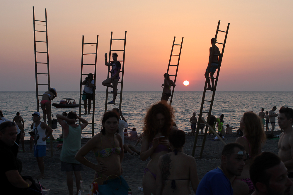 The Kazantip dance fest has its first run on Georgia's Black Sea coast after Russia's annexation of Crimea. (Paul Rimple)