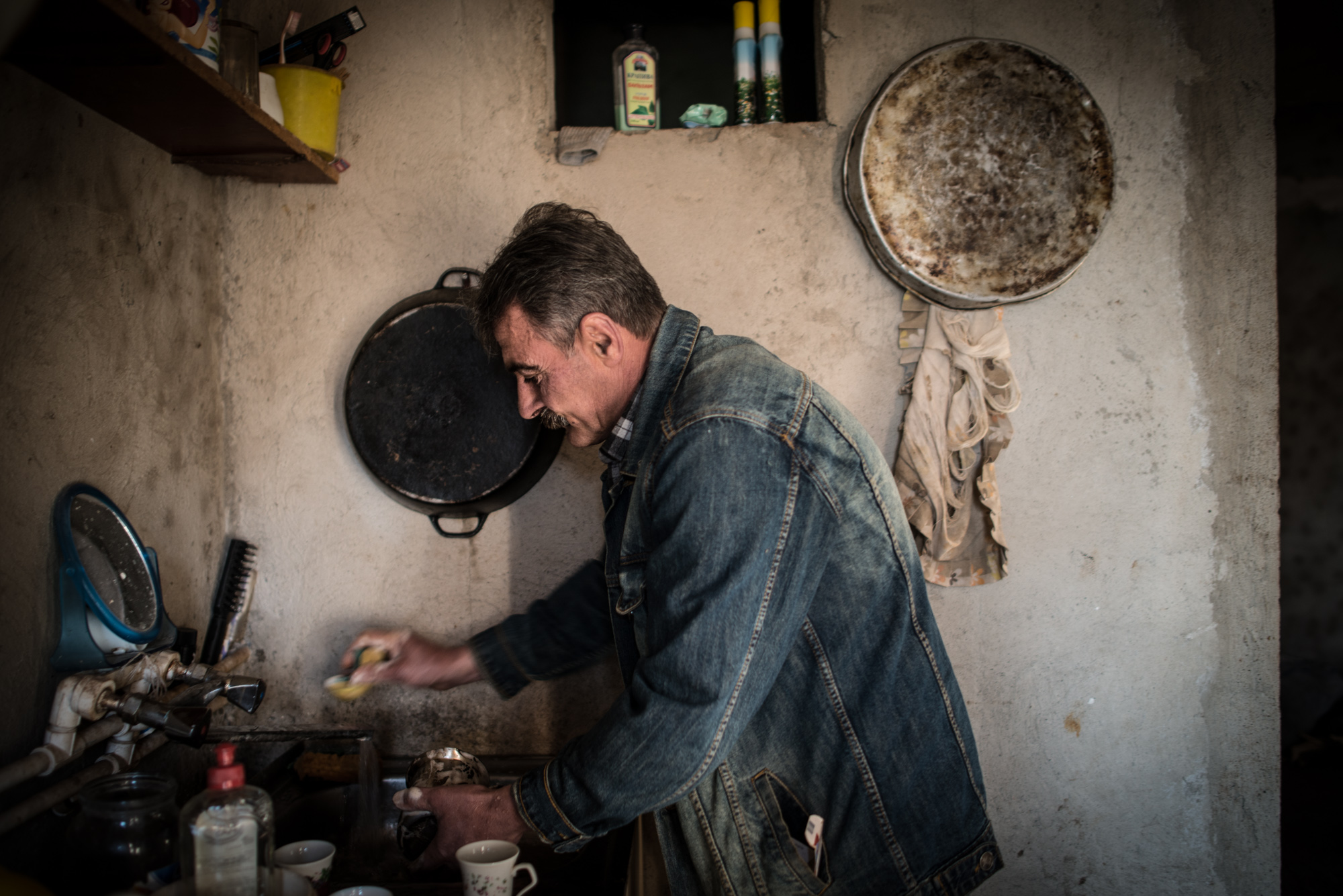 Syrian Armenian Hrach Donabedian lives in Zangilan. He does odd jobs, along with farming and fishing in the Arax River.