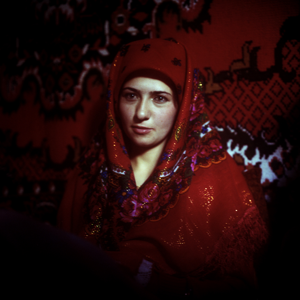 A bride prepares for her wedding day in Tajikistan's Pamir mountains. (Ikuru Kuwajima)