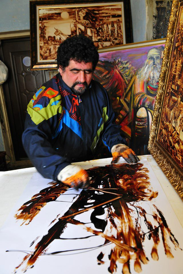Sabir Chopuroglu in his studio