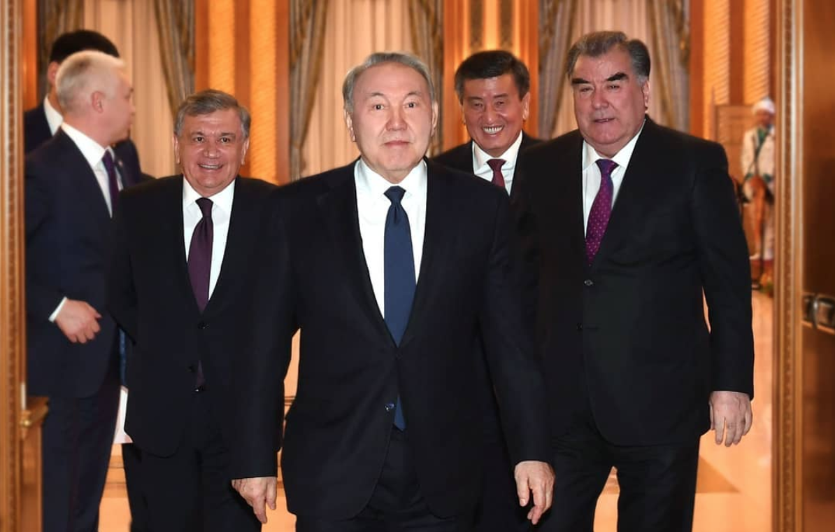 Central Asian heads of state during summit in Kazakhstan