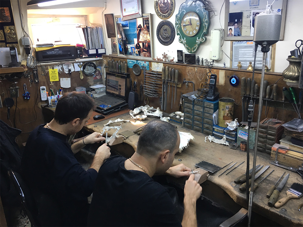 Silversmith workshop in Istanbul