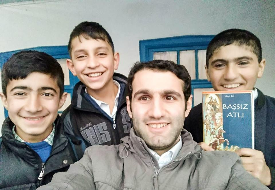 Habib Alizadeh with his students in Gegiran