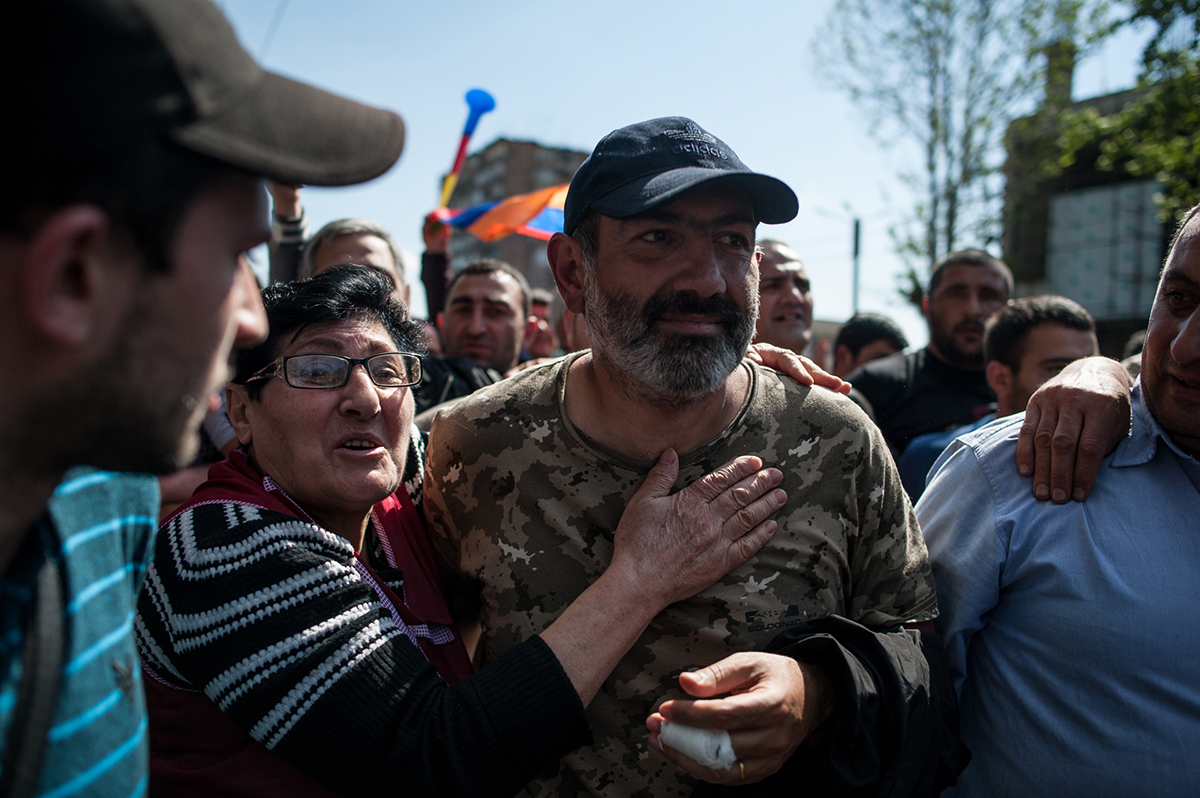 Nikol Pashinyan and other MPs joined the celebration after their release.  (Photo by Nazik Armenakyan)