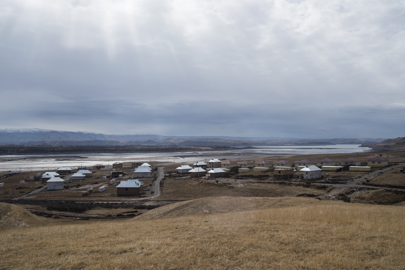 The village of Ak-Ko where residents are resettled from dangerous areas.