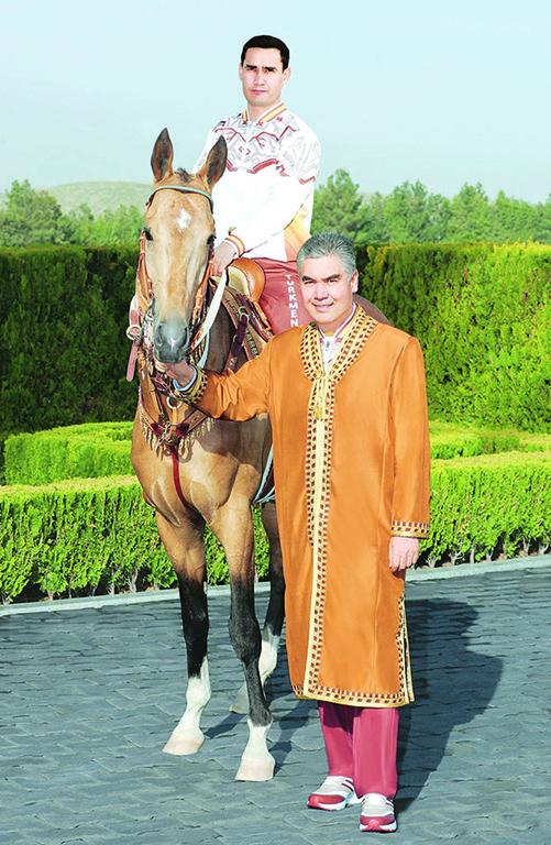 Serdar on the horse