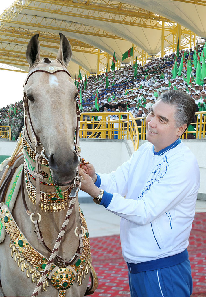 Berdymukhamedov with his horse