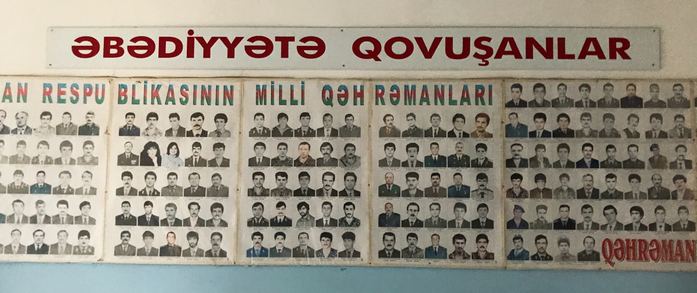 poster at the Qusambeyli school