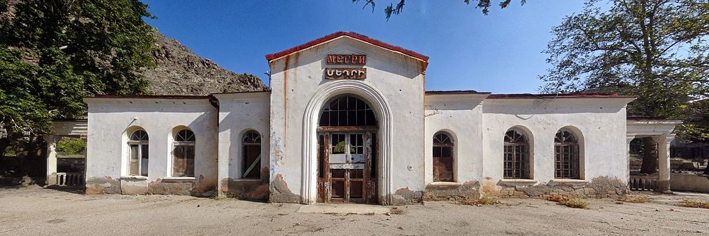 End of the line: Meghri station in southern Armenia (Vahemart / Wikimedia Commons)