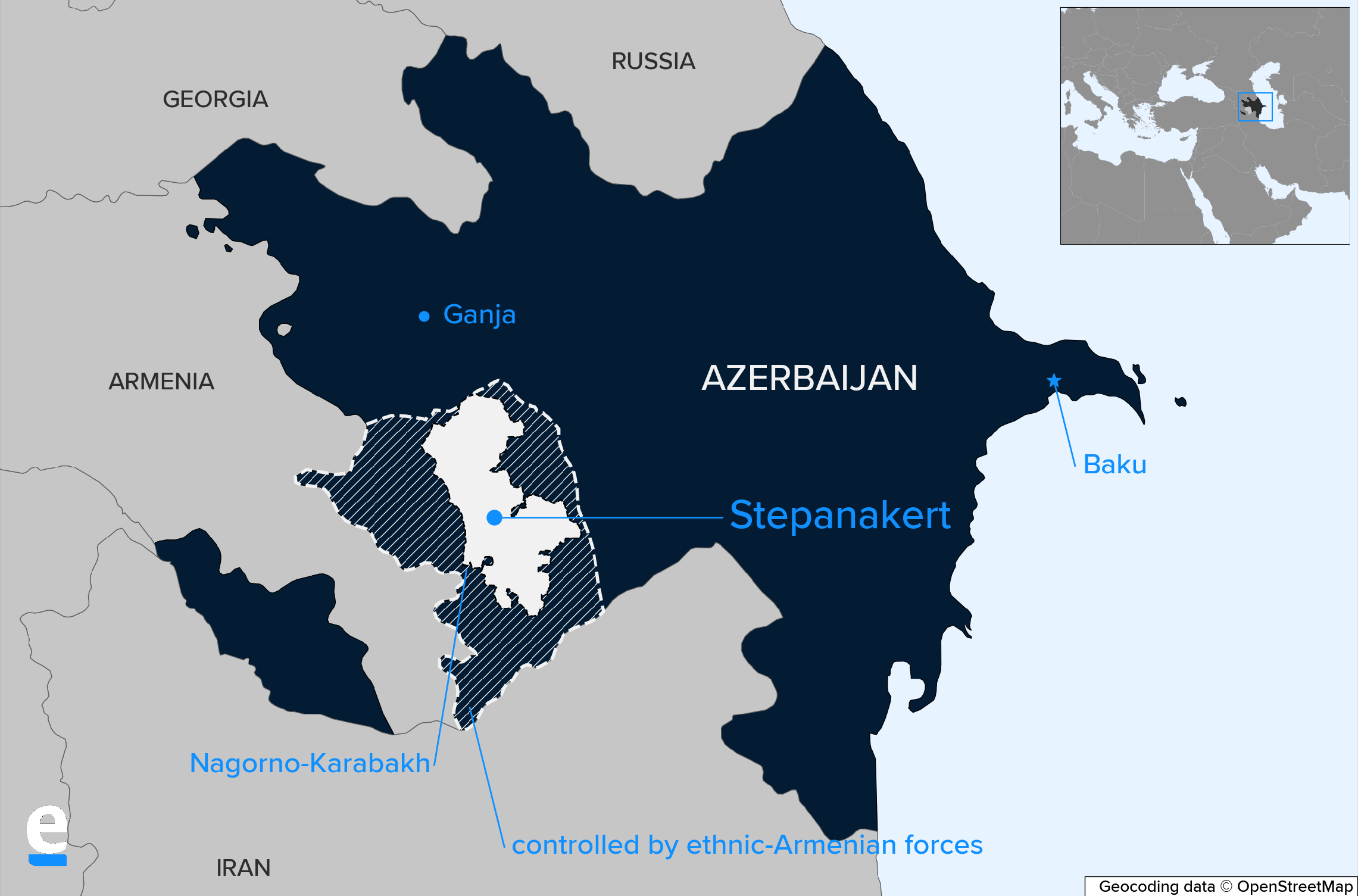 Nagorno-Karabakh map