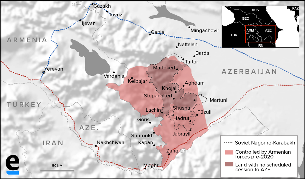 Armenia proposing restoration of rail route through Azerbaijan to Russia
