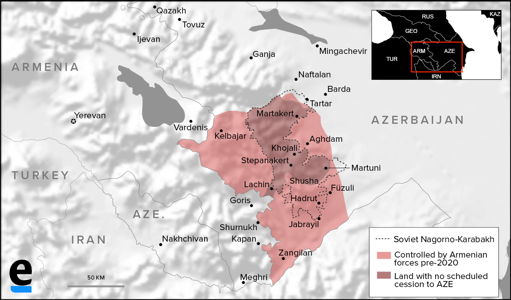 post-war Karabakh map