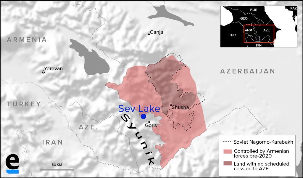 Sev Lake map