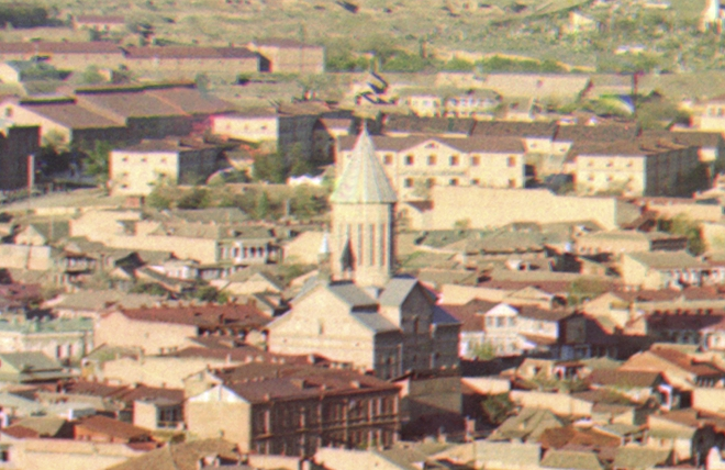 Armenian Church of the Red Gospel in Tbilisi in the early 1900s