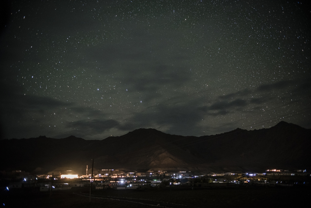 Nighttime view of Murghab.