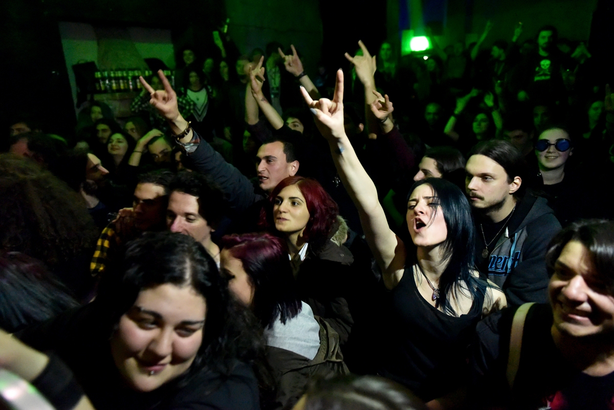 Audience at the March 17 Caucasus Metal Battle in Tbilisi, Georgia. (All photos by Onnik Krikorian)