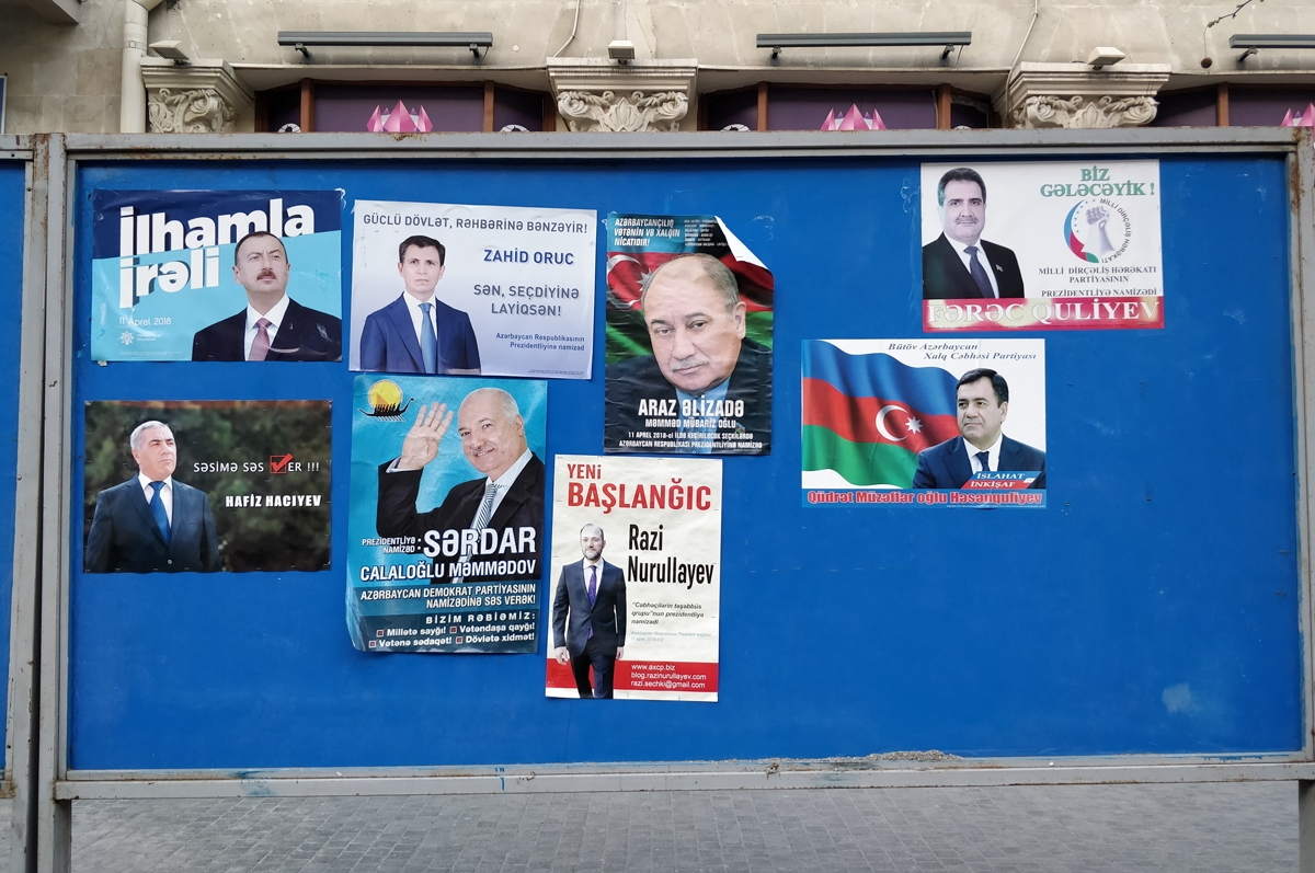 Campaign posters in Baku