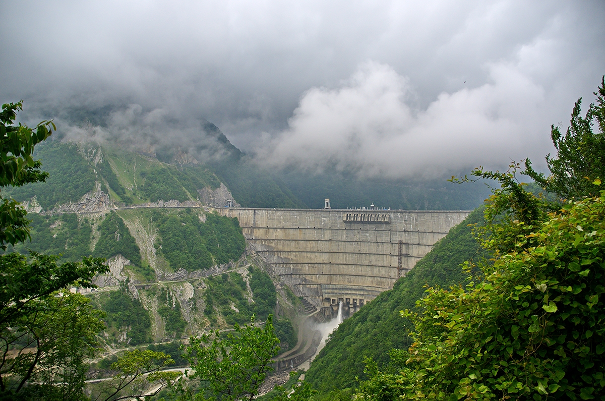 The Enguri Dam in Jvari, Georgia