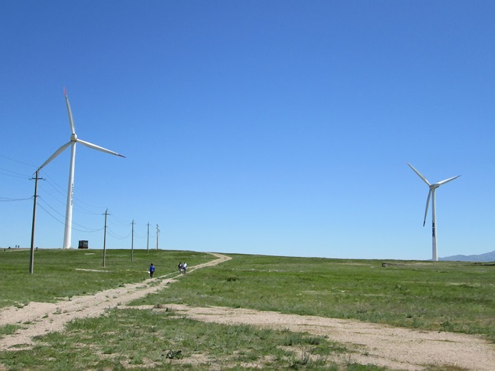 The first commercial wind facility was built near the Korday Mountains in 2011.