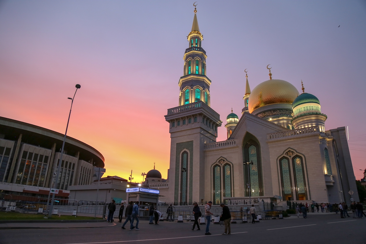 sunrise behind the mosque