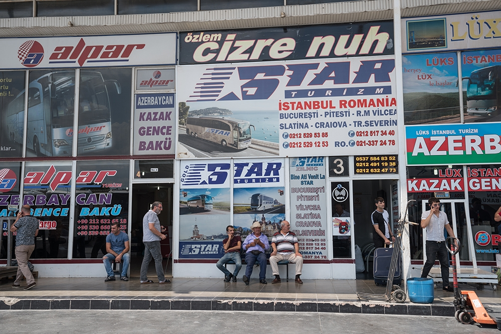 There are many bus companies selling tickets at the terminal in Aksaray.