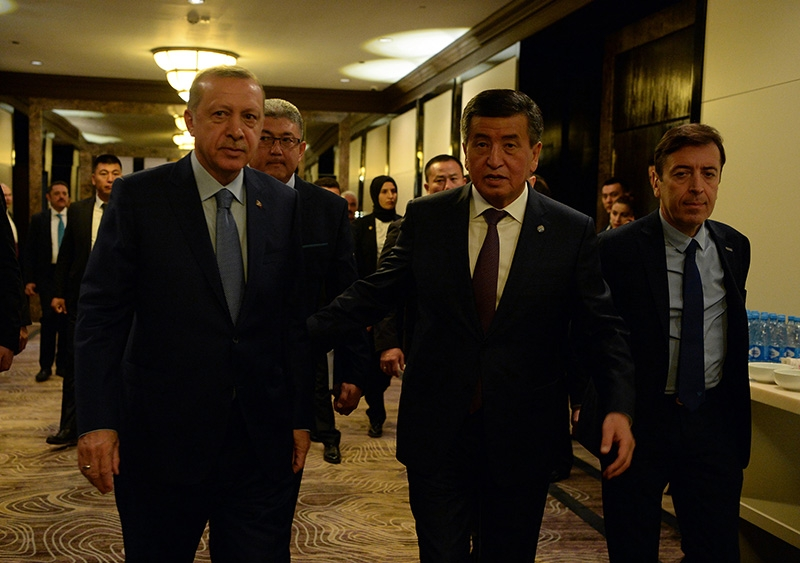 Erdogan and Jeenbekov in Bishkek this weekend. (Photo: Kyrgyzstan presidential administration)