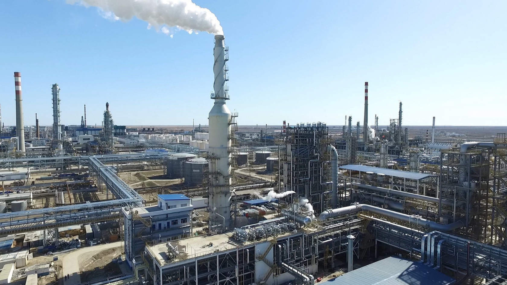 Atyrau refinery, in northwestern Kazakhstan. (Photo: Kazakhstan prime minister's official website)