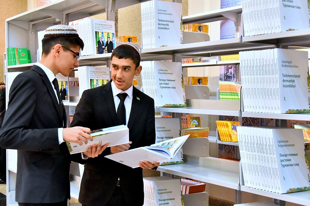 Library day in Turkmenistan