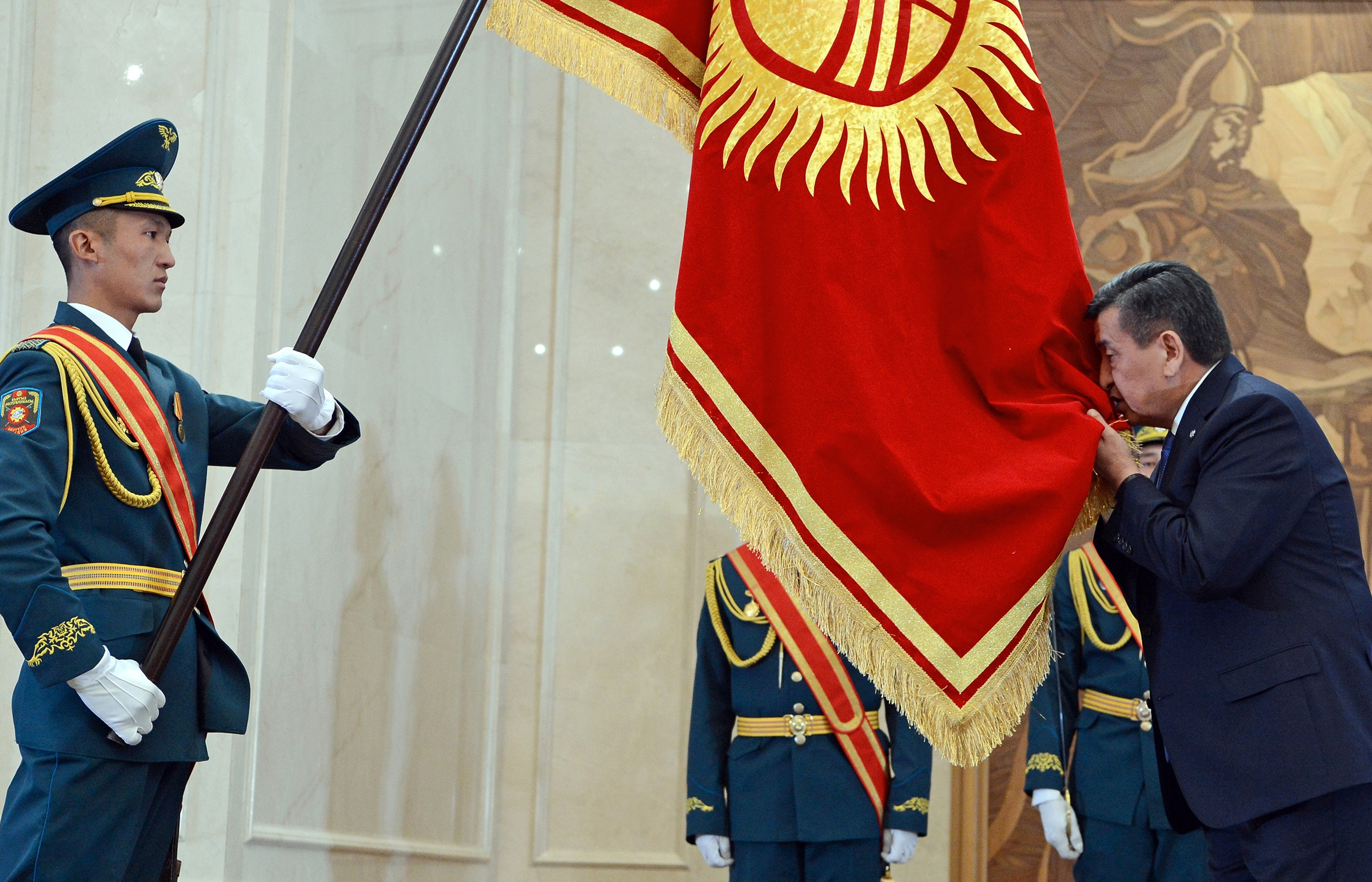 President Sooronbai Jeenbekov wants to be seen as a Kyrgyz patriot, but not at the cost of alienating China. (Photo: Kyrgyz presidential website)