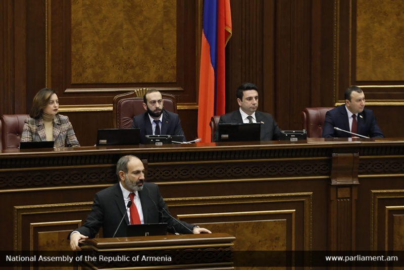 Pashinyan in parliament