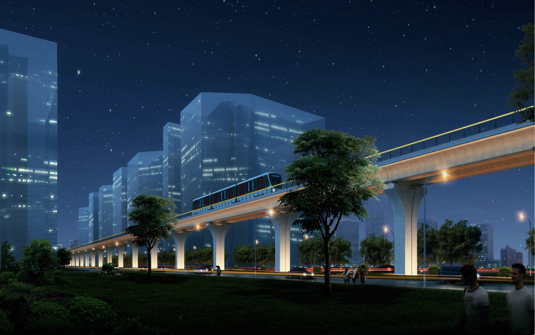 The rail deal: A projection of what the LRT track could one day look like. (Photo: Astana LRT website)
