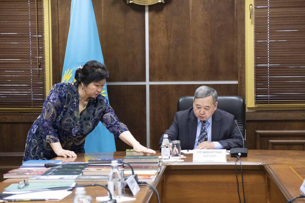 A testing time: One of the hopeful candidates, Sadybek Tughel, taking his Kazakh language exam late last month. (Photo: Central Election Commission website)