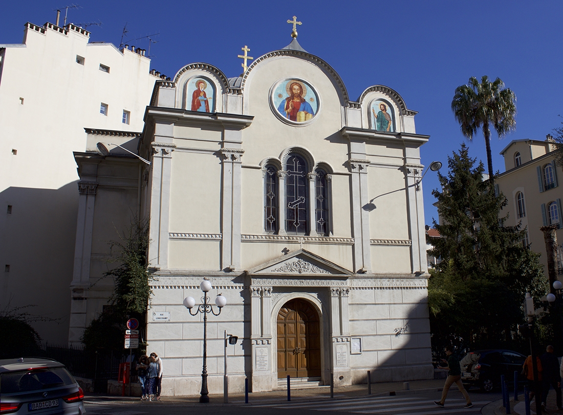 The St. Nicolas and St. Alexandra Church on Rue Longchamp in Nice (all photos Killian Cogan)